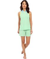 LAUREN Ralph Lauren - Color Block V-Neck Henley Boxer Pajama Set