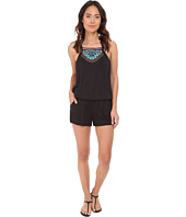 Nanette Lepore - Mantra Embroidery Romper Cover-Up
