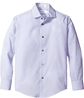 Calvin Klein Kids - End on End Check Long Sleeve Shirt (Big Kids)