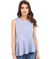 B Collection by Bobeau - Darby Asymmetric Poplin Top