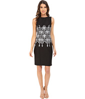 Adrianna Papell - Embroidered Waist Sheath Dress