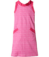 Oscar de la Renta Childrenswear - Naive Grid Cotton A-Line Dress (Toddler/Little Kids/Big Kids)