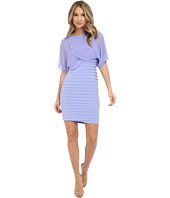 Adrianna Papell - Draped Blouson with Banded Jersey Dress
