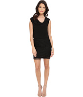 Laundry by Shelli Segal - Lace and Matte Jersey Sleeveless Blouson
