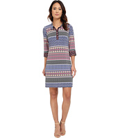 Laundry by Shelli Segal - 3/4 Sleeve Print Matte Jersey Shirt Dress