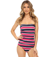 Tommy Bahama - Nautical Shirred Bandeau One-Piece