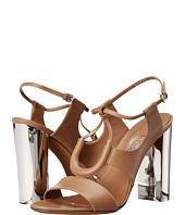 Salvatore Ferragamo - Calfskin Sandal With Plexiglas Heel