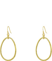Cole Haan - Basket Weave Oval Hoop Earrings