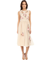 RED VALENTINO - Floral Long Lace Dress