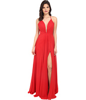 Faviana - Chiffon V-Neck Gown w/ Full Skirt 7747