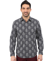 Perry Ellis - Long Sleeve Paisley Dot Shirt