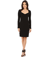 Nicole Miller - Zarita Open Neck Long Sleeve Cocktail Dress