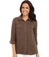 KUT from the Kloth - Elva Long Sleeve Button Up Top