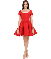 Zac Posen - Short Sleeve Boat Neck Fit and Flare Dress