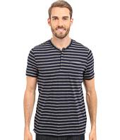 Kenneth Cole Sportswear - Stripe Henley w/ Pocket