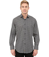 Thomas Dean & Co. - Long Sleeve Woven Tiny Poplin Print