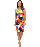 Christin Michaels - Trieste Printed Scuba Dress