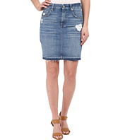 7 For All Mankind - Mini Pencil Skirt w/ Released Hem & Destroy