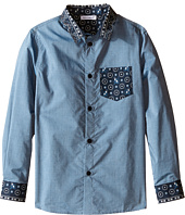 Dolce & Gabbana Kids - Contrast Collar/Pocket Shirt (Toddler/Little Kids)