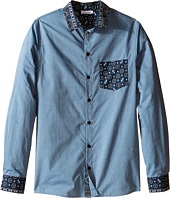 Dolce & Gabbana Kids - Contrast Collar/Pocket Shirt (Big Kids)