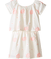 Chloe Kids - White Dress with Pink Embroidery (Big Kids)
