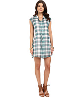 Jack by BB Dakota - Katrin Pastel Plaid Crinkle Gauze Shirtdress