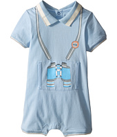 Little Marc Jacobs - Jersey Overall Bodysuit with Illustration In Front (Infant)