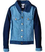 Little Marc Jacobs - Denim Jacket Leather Flag (Little Kids/Big Kids)