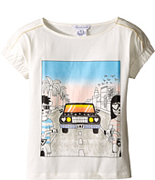 Little Marc Jacobs - Cotton Jersey Tee Shirt Car Or Hello Sunshine Print (Little Kids/Big Kids)
