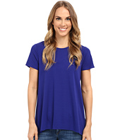 Vince Camuto - Short Sleeve High-Low Hem Top w/ Woven Back