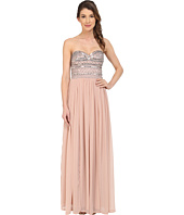 Aidan Mattox - Strapless Chiffon Gown with Beaded Bodice