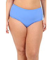 Athena - Plus Size Cabana Solids Mid Waist Shirr Side Pants