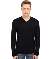 Vince - Wool Silk Long Sleeve Jersey V-Neck