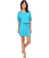 Michael Stars - Drawstring Dress w/ Ruched Sleeves