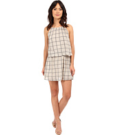 Michael Stars - Plaid Mesh Layered Halter Dress