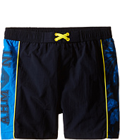 Armani Junior - Swimsuit with Side Logo and Yellow Detail (Toddler/Little Kids)