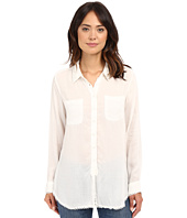 Dylan by True Grit - Dream Cotton Long Sleeve Two-Pocket Shirt with Crochet