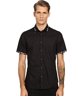 Just Cavalli - Short Sleeve Woven Crinkle Effect and Print Trim