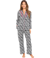 Oscar de la Renta - Printed Cotton Sateen Pajama