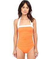 LAUREN Ralph Lauren - Bel Aire Solids Shirred Bandeau Mio Slimming Fit w/ Soft Cup