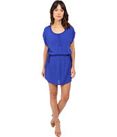 Splendid - Rayon Crinkle Gauze Drawstring Dress