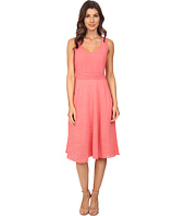 Adrianna Papell - Scoop Neck Handkerchief Dress