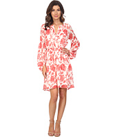 Adrianna Papell - Floral Jacquard Loose Fit Dress