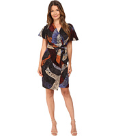 Just Cavalli - Cross Naif Print Short Sleeve Faux Wrap Dress