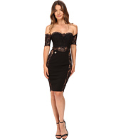 Philipp Plein - Off the Shoulder Placed Lace Dress