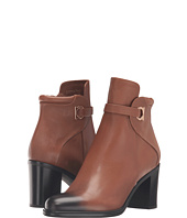 Salvatore Ferragamo - Pebbled Leather Bootie with Block Heel