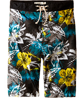Appaman Kids - Elastic Wait and Lined Swim Trunks with Hawaian Inspired Design (Toddler/Little Kids/Big Kids)