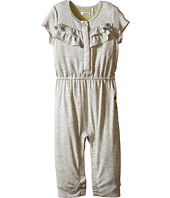 IKKS - Jersey Jumpsuit with Ruffles/Snap Front with Cat/Pineapple Graphic on Back Snaps Up (Infant)