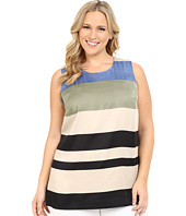 Vince Camuto Specialty Size - Plus Size Sleeveless Veranda Stripe Blouse