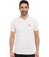U.S. POLO ASSN. - Horizontal Pin Stripe V-Neck T-Shirt